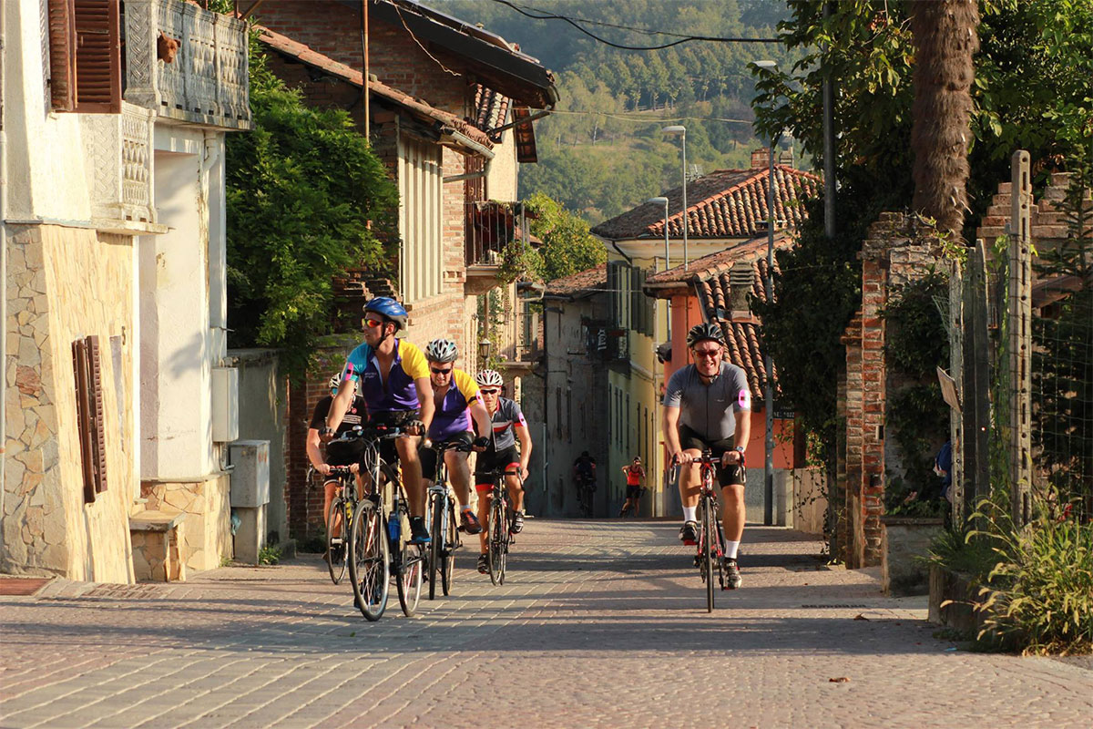 Cyclists in Italy